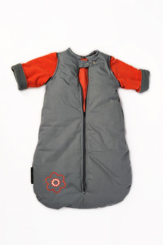 Babyvak Spací pytel s odepínacími rukávy malý - šedá/oranžová