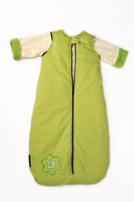 Babyvak Spací pytel s odepínacími rukávy velký - zelená/ smetanová