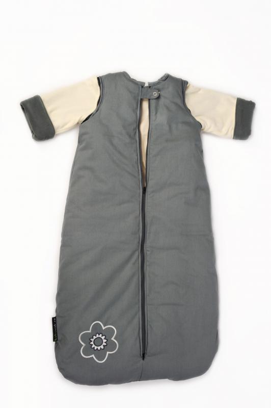 Babyvak Spací pytel s odepínacími rukávy velký - šedá/béžová