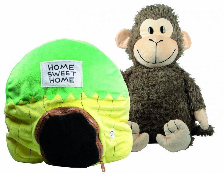 EP Line Happy Nappers dětský plyšový polštářek - opička