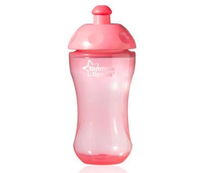 Tommee Tippee Sportovní láhev 300ml 36m+ Basic - růžová