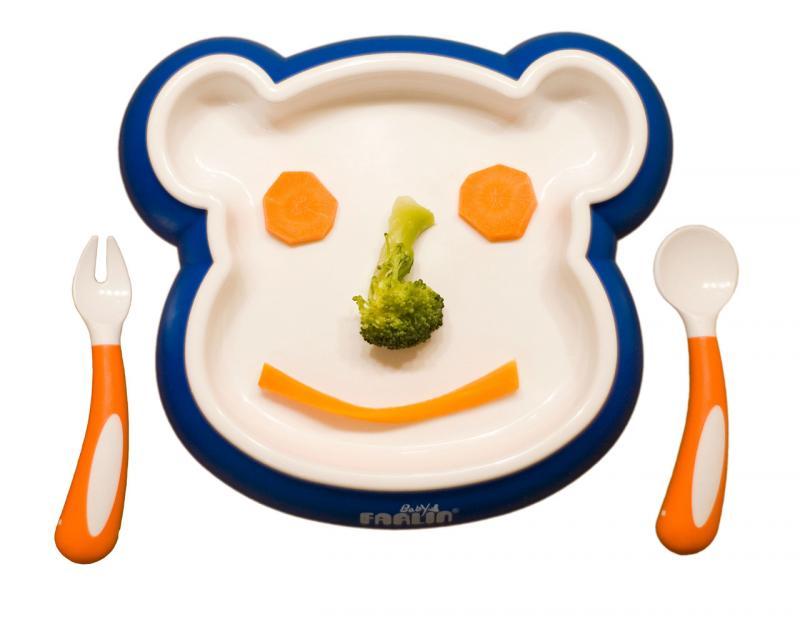 Farlin jídelní sada medvídek - modrá