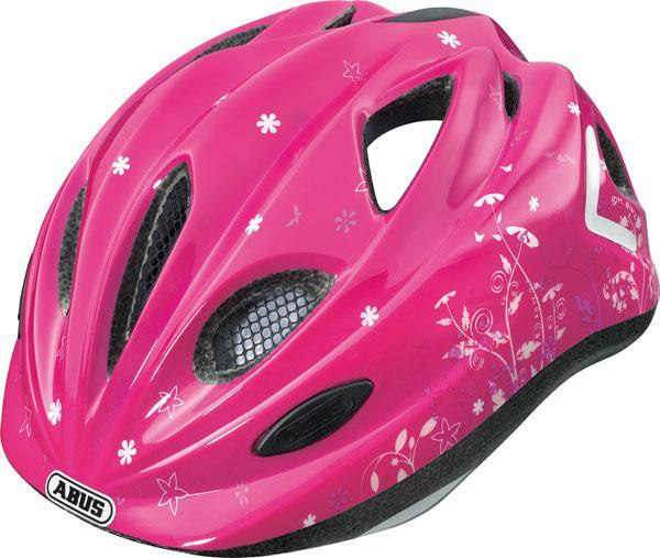 Dětská cyklistická helma ABUS Super Chilly - PINK velikost M