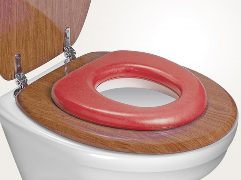 Reer WC sedátko soft - červená