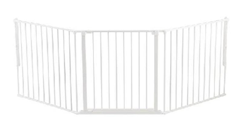 BabyDan prostorová zábrana Flex L - White