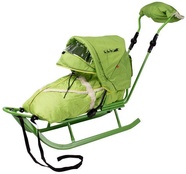 Piccolino saně KOMPLET LUX - zelené