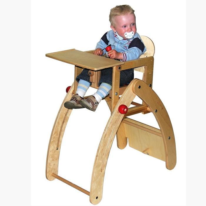 Jídelní židlička Kami Plus víceúčelová (7 v 1) - bříza