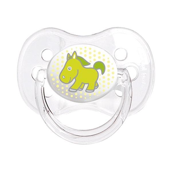 Canpol babies dudlík silikonový symetrický 0-6m TRANSPARENT - zelená