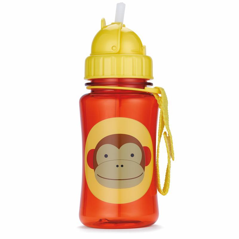 Skip Hop Zoo Lahvička s brčkem  - Opička