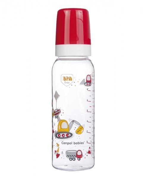 Canpol babies láhev MACHINES 250 ml bez BPA - červená