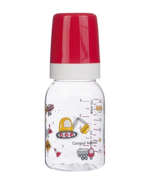 Canpol babies láhev MACHINES 120 ml bez BPA - červená