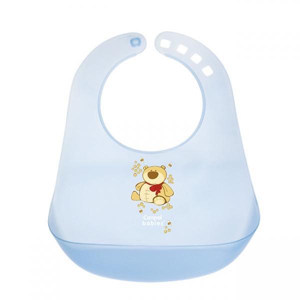 Canpol babies plastový bryndák - modrá