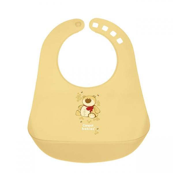 Canpol babies plastový bryndák - žlutá