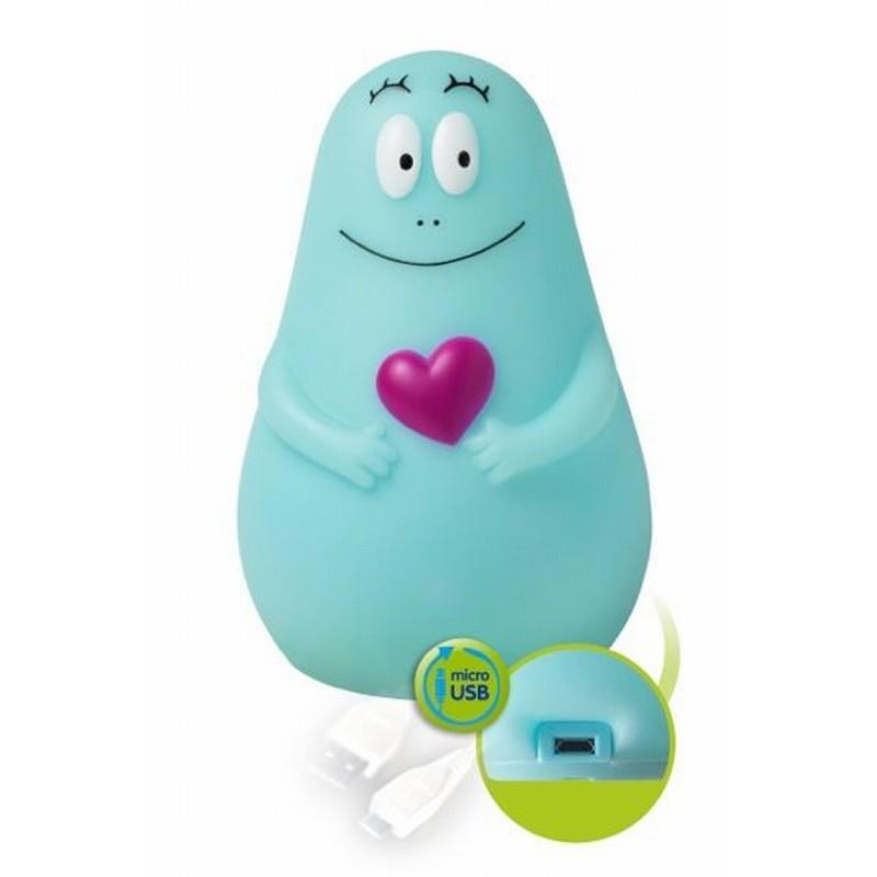 Pabobo svítící kamarád Lumilove Barbapapa micro USB - Blue