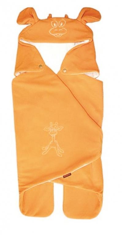 Emitex Zavinovačka do autosedačky KAPUCE - Oranžová (žirafa)