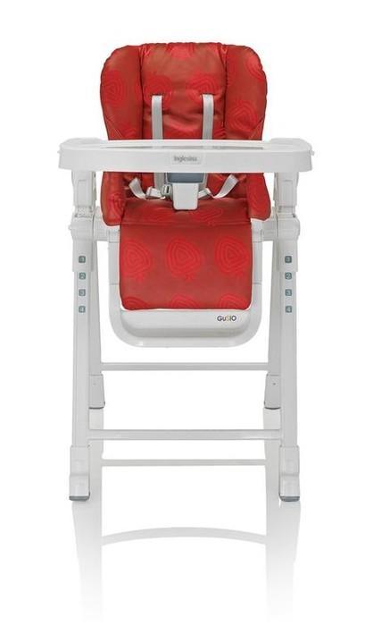 Jídelní židlička Inglesina Gusto 2017 - Strawberry/ červená