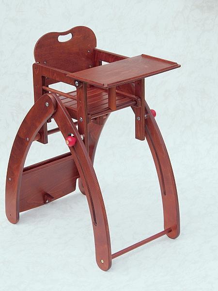Jídelní židlička Kami Plus víceúčelová (7 v 1) - kaštan