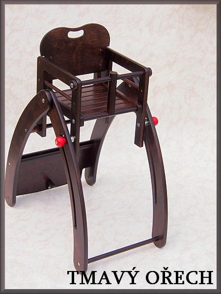 Jídelní židlička Kami Plus víceúčelová (7 v 1) - tmavý ořech