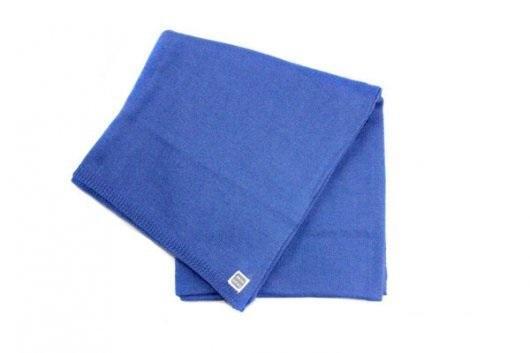 Minutus deka pletená bavlněná - modrá