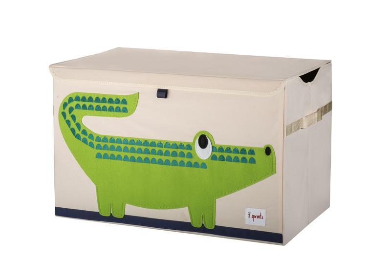3 Sprouts Toy Chest - uzavíratelná bedýnka na hračky - Crocodile (krokodýl)