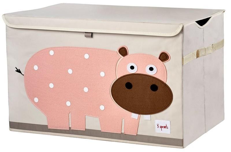 3 Sprouts Toy Chest - uzavíratelná bedýnka na hračky - Hippo (hroch)