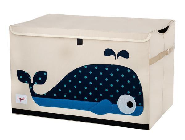 3 Sprouts Toy Chest - uzavíratelná bedýnka na hračky - Whale (velryba)
