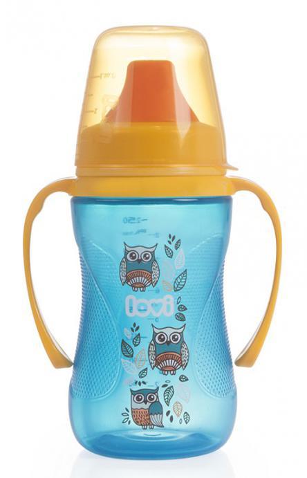 LOVI nevylévací hrníček Folky 250 ml bez BPA - modrý