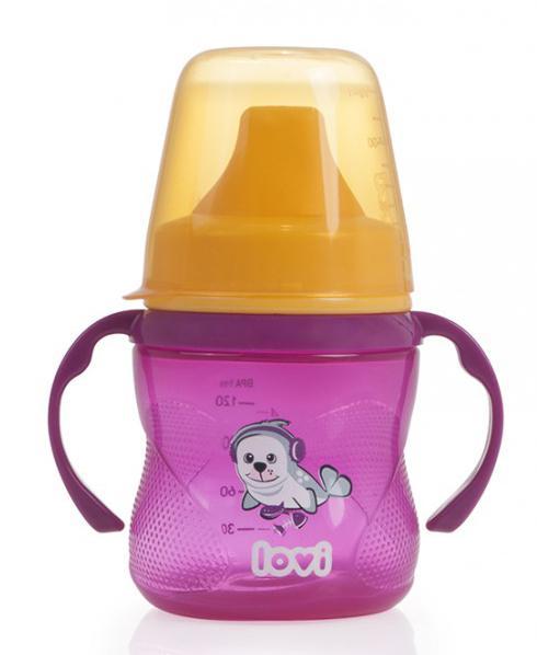 LOVI nevylévací hrníček Hot & Cold 150ml bez BPA - růžový