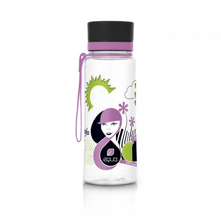 EQUA plastová lahev 0,4 litru - Pink Face