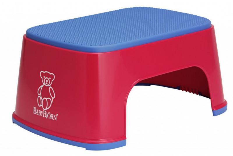 BabyBjörn stupátko Safe step - červené/bright red