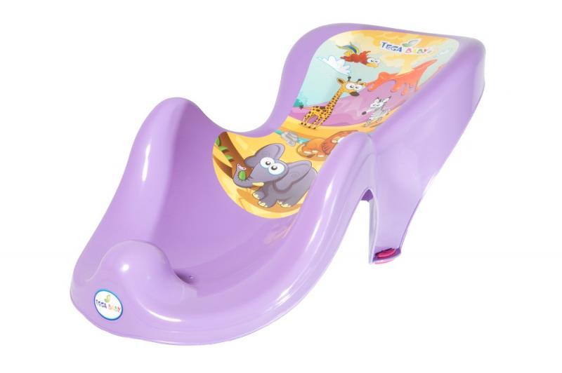 Tega Baby lehátko do vaničky Safari - fialová