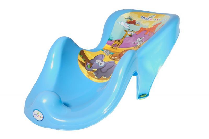 Tega Baby lehátko do vaničky Safari - modrá