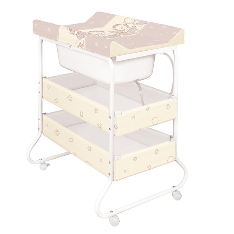 Ceba Baby Přebalovací pult s vaničkou Susi - Kachničky hnědé