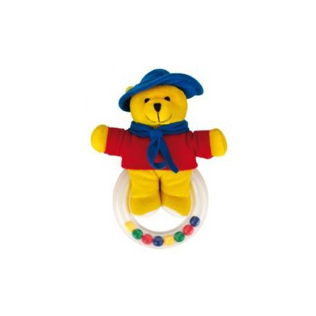 Canpol babies plyšové chrasítko sedící medvídci - barevný medvídek
