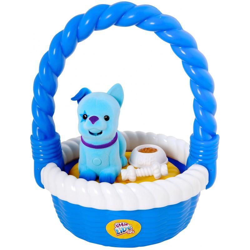 Cobi LITTLE LIVE PETS Mluvící mazlíčci v košíku - modrá
