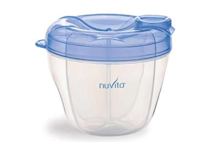 Nuvita nádoba a dávkovač na sušené mléko - modrá