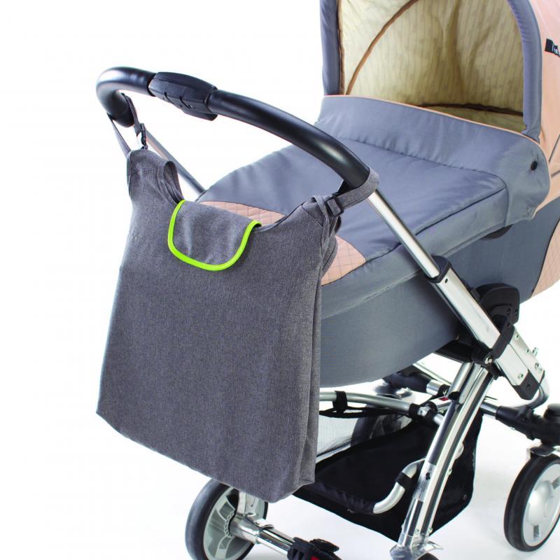DIAGO taška ke kočárku DELUXE - zelená/šedá