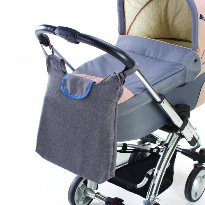 DIAGO taška ke kočárku DELUXE - modrá/šedá
