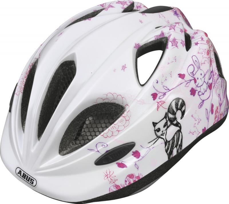 Dětská cyklistická helma ABUS Super Chilly - Scribble Pink velikost M