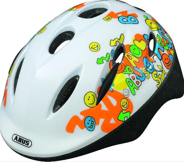 Dětská cyklistická helma ABUS Smooty - Model White - velikost M
