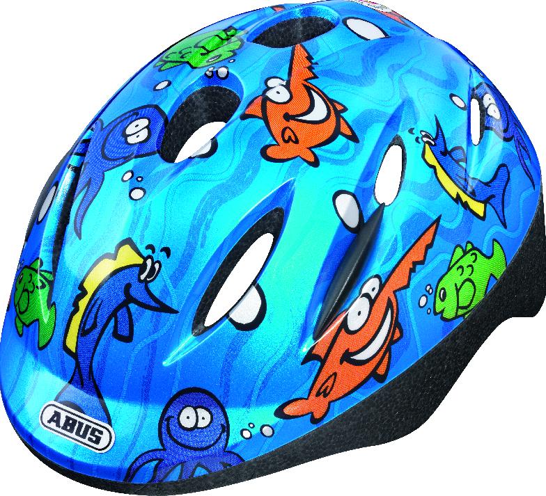 Dětská cyklistická helma ABUS Smooty - Model Ocean - velikost S