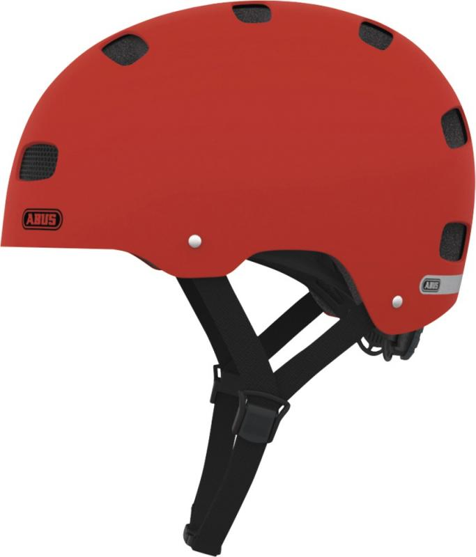 Dětská cyklistická helma ABUS SCRAPER KID - Red matt velikost S