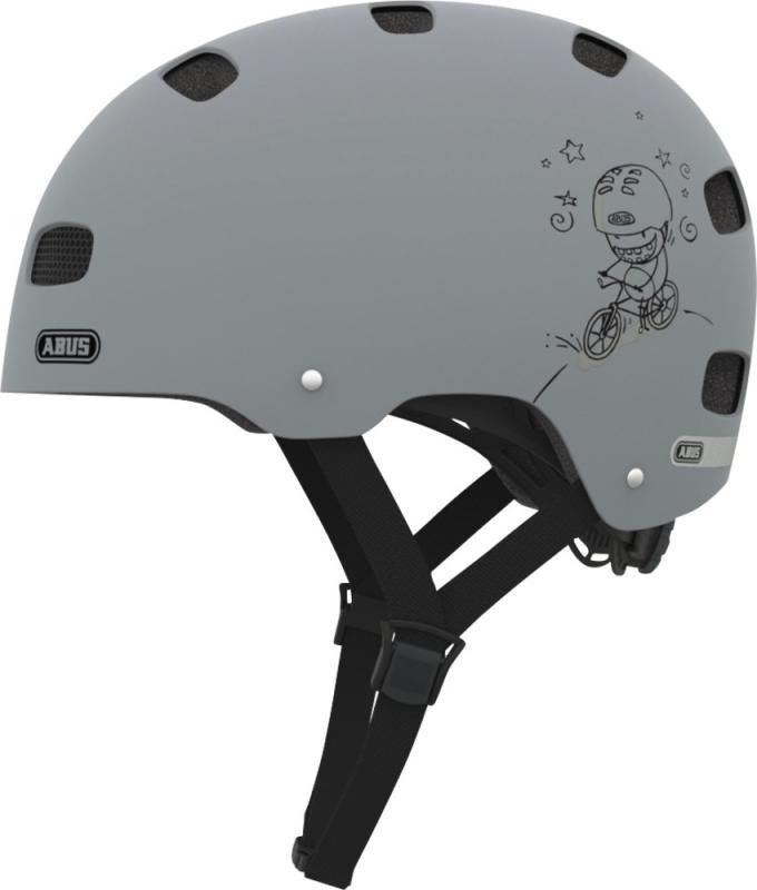 Dětská cyklistická helma ABUS SCRAPER KID - Grey ride velikost S