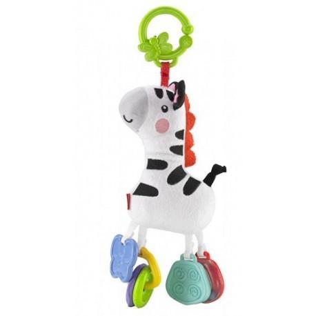 Fisher-Price Kolekce plyšových klapajících zvířátek CCG06 - zebra