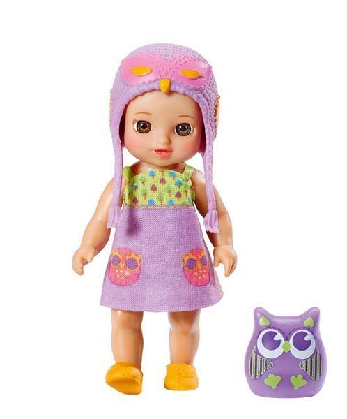 Zapf mini CHOU CHOU Sovičky 2 - Vicky, fialová sovička