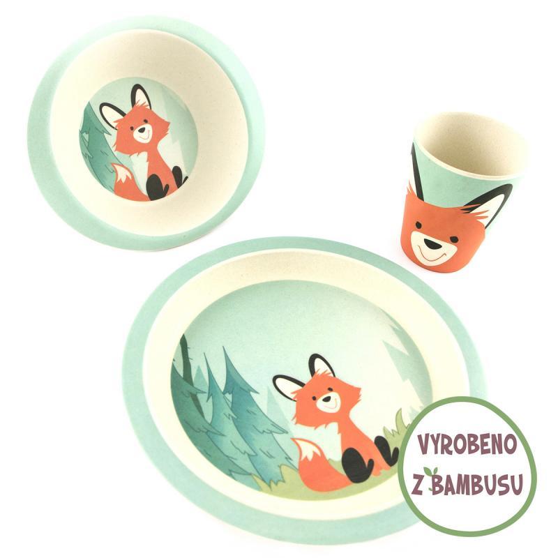Pure Kids sada nádobí s kelímkem, 24m+ - liška