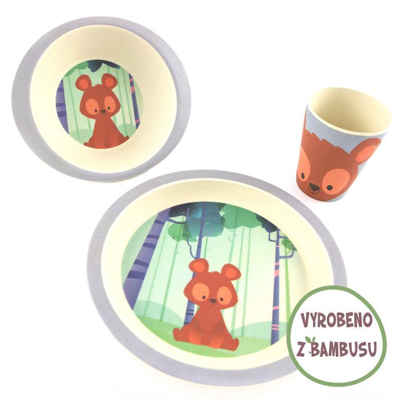 Pure Kids sada nádobí s kelímkem, 24m+ - medvěd