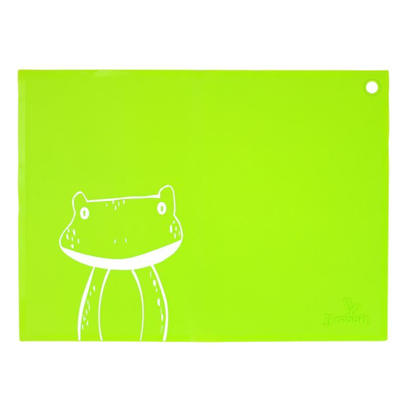 JJ Rabbit silikonové prostírání - žába - zelené