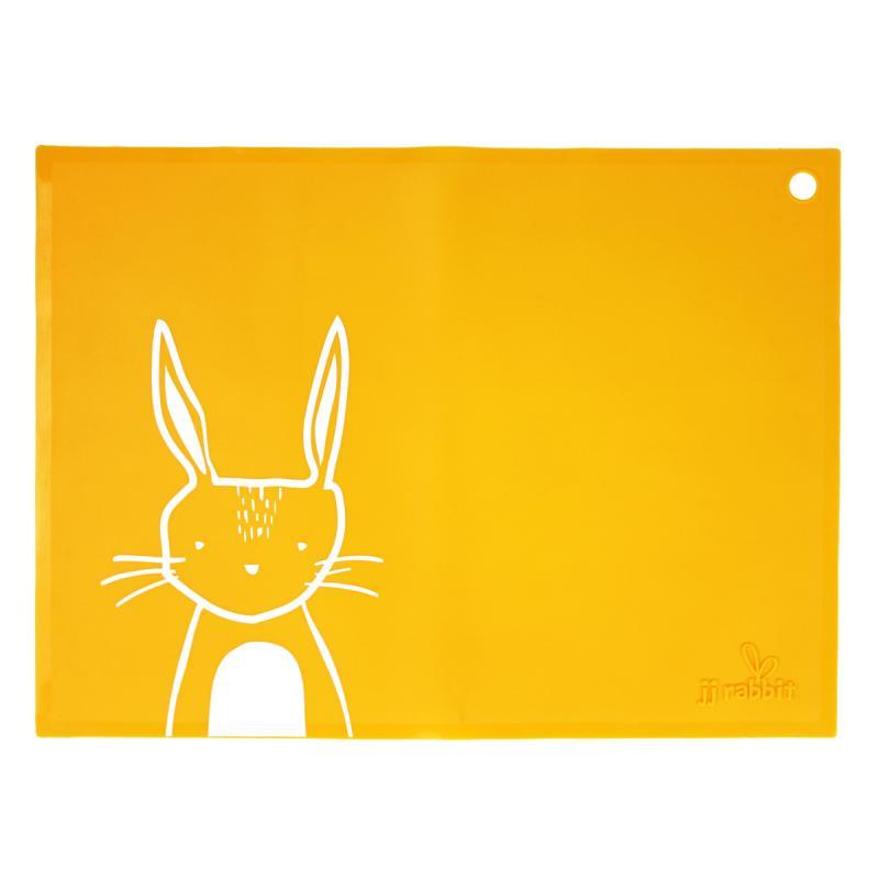 JJ Rabbit silikonové prostírání - králíček - oranžové