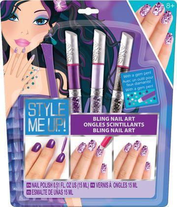 Wooky Perfektní nehty s kamínky - fialová